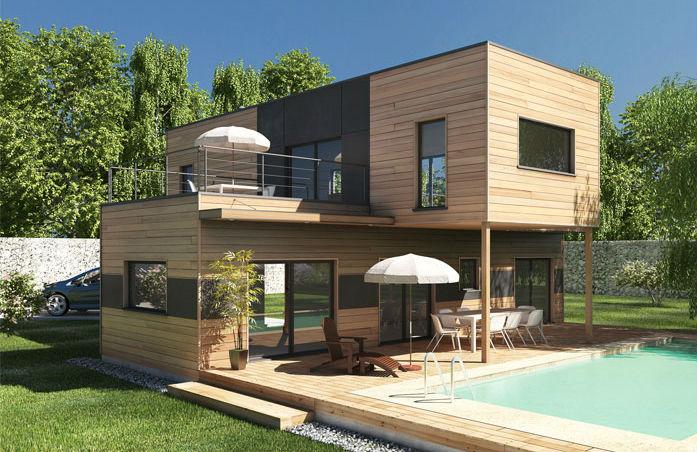 Quel Type De Maison En Bois Faire Construire   Cpm Rhonealpes